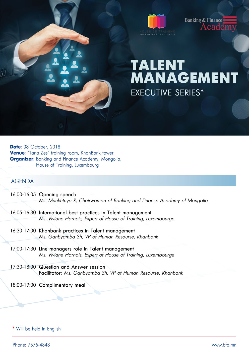 Executives series Talent mgmt